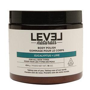 Level Naturals Body Polish Body Scrub, Eucalyptus + Lime, 16 oz