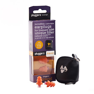 Pluggerz Travel Earplugs, Orange, 1 pair, 1 ea