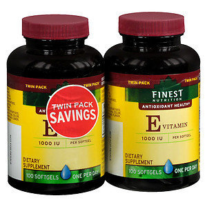 Finest Natural Vitamin E 1000 IU, 2 pk, 100 ea