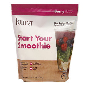 Kura New Zealand Protein Smoothie Powder, Berry, 16.9 oz