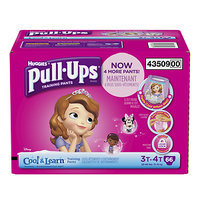 Huggies Pull-Ups Training Pants with Cool & Learn for Girls, 3T-4T, 66 ea