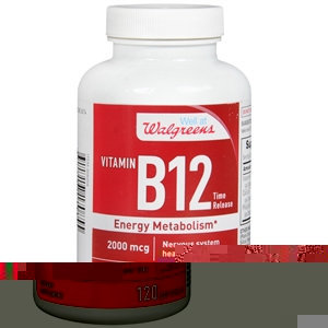 Walgreens Vitamin B-12 2000mcg, Timed Release Tablets, 180 ea