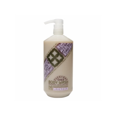 Alaffia Everyday Shea - Moisturizing Body Wash Lavender - 32 oz.