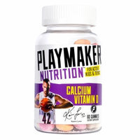 Playmaker Nutrition Vitamin D Plus Calcium Gummies for Teens