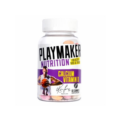 Playmaker Nutrition Vitamin D Plus Calcium Gummies for Teens