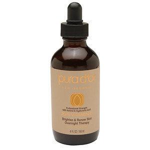 PURA D'OR Professional Strength 20% Vitamin C Brighten & Renew Skin Overnight Therapy, 4 oz