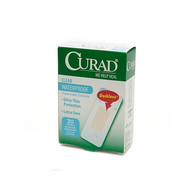 Curad Clear Waterproof, Sterile Adhesive Bandages