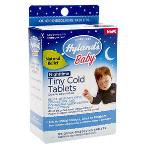 Hylands Hyland's Baby Nighttime Tiny Cold Tablets, 125 ea