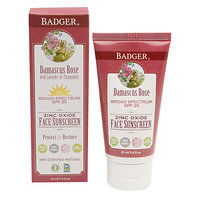 Badger Rose Face Sunscreen Lotion, SPF 25