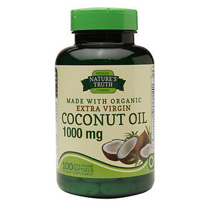 Nature's Truth Extra Virgin Coconut Oil 1,000mg, 100 ea