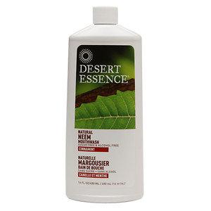 Desert Essence MOUTHWASH, NEEM, CINNAMINT
