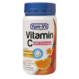 Yum V's Yum-V's Vitamin C with Echinacea Adult Jellies, Orange, 60 ea