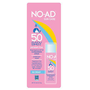NO-AD Baby Sunscreen Stick SPF 50, 1.65 oz