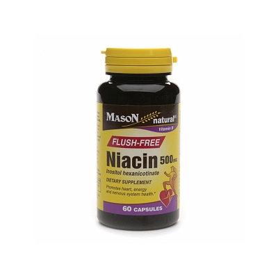 Mason Natural Flush-Free Niacin, 500mg, Capsules