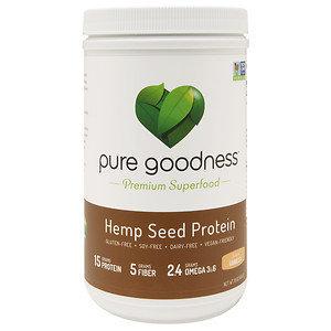 Pure Goodness Hemp Seed Protein, Vanilla, 16 oz