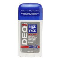 Kiss My Face Natural Man Aqua Deodorant, Aqua, 2.48 oz