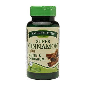 Nature's Truth Super Cinnamon Plus Biotin & Chromium, Capsules, 60 ea