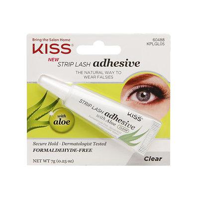 Kiss Strip Lash Adhesive with Aloe, Clear, .25 oz