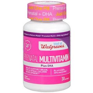 Walgreens Prenatal Multivitamin Plus DHA, Softgels, 30 ea