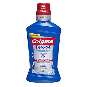 Colgate Peroxyl Mouth Sore Rinse, Mild Mint, 16.9 oz