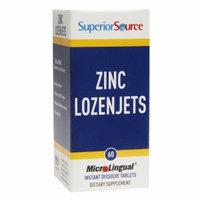 Superior Source - Zinc Lozenjets Instant Dissolve - 60 Tablets