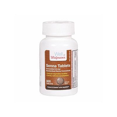 Walgreens Senna Natural Vegetable Laxative Tablets, 300 ea