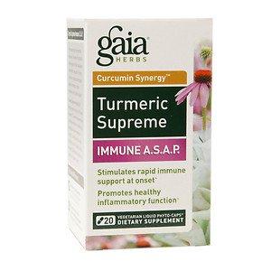 Gaia Herbs - Turmeric Supreme Immune A.S.A.P. - 50 Vegetarian Capsules