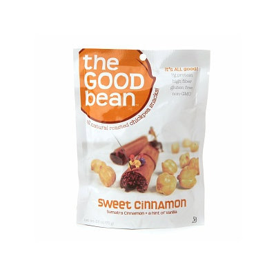 The Good Bean All Natural Roasted Chickpea Snacks, Sweet Cinnamon, 2.5 oz