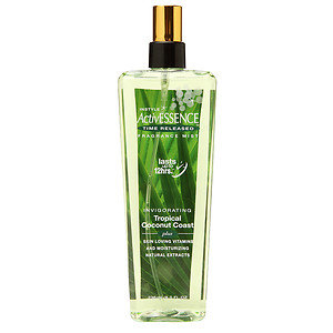 Instyle Fragrances ActiveEssence Time Released Fragrance Mist, Coconut, 8 oz