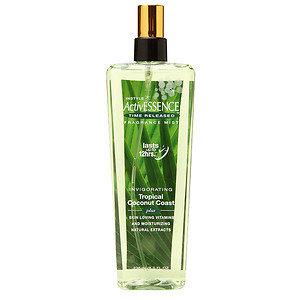 Instyle Fragrances ActiveEssence Time Released Fragrance Mist, Coconut, 8 oz