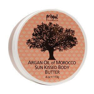 Primal Elements Argan Oil of Morocco Sun Kissed Body Butter, 4 oz