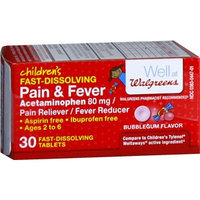 Walgreens Children's Pain Relief Acetaminophen Meltaways Bubble Gum