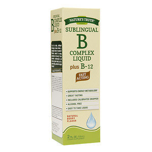 Nature's Truth Sublingual B Complex Liquid Plus B-12, Berry, 2 oz