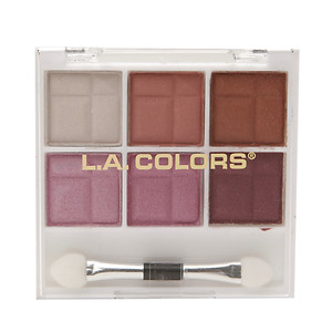 L.A. Colors 6 Color Eyeshadow, Delicate, .14 oz