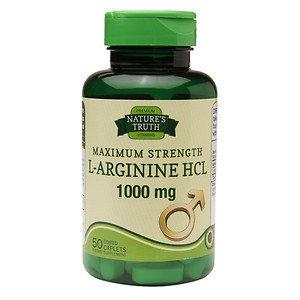 Nature's Truth Maximum Strength L-Arginine HCL 1000mg, 50 ea