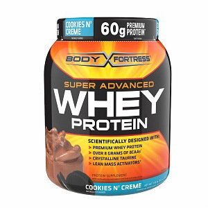 Body Fortress Super Advanced Whey Protein Powder, Cookies N' Creme, 31.2 oz