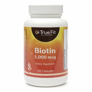 True Fit Vitamins Biotin, 5000mcg, 120 capsules