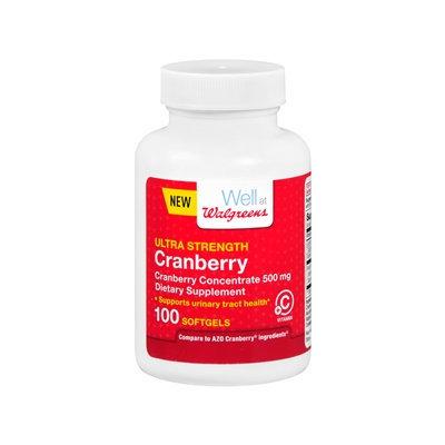 Walgreens Cranberry Ultra Strength With Vitamin C Softgels, 100 ea