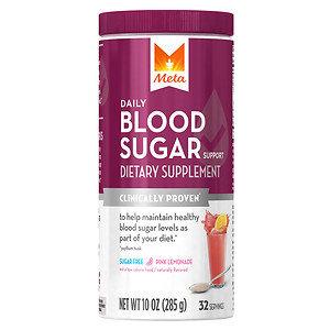 Meta Blood Sugar, Powder, Pink Lemonade, 10 oz