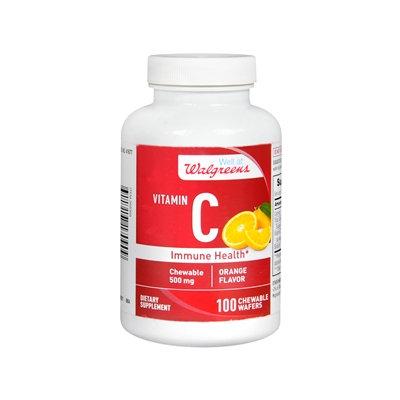 Walgreens Vitamin C Immune Health 500mg, Chewable Wafers Orange