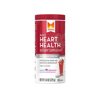 Meta Heart Health, Powder, Berry Smooth, 9.8 oz