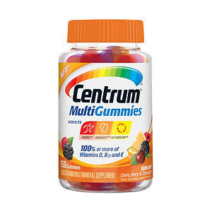 Centrum MultiGummies for Adults, Natural Cherry, Berry & Orange