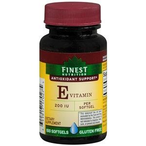 Finest Nutrition Vitamin E 200 IU, Softgels