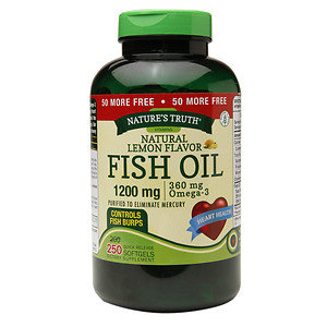 Nature's Truth Fish Oil 1200mg, Lemon, 250 ea
