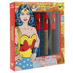 Wonder Woman An Eye for Justice Liquid Eyeliner Set, 3 pcs, 1 ea