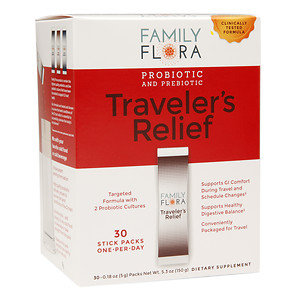 Family Flora Traveler's Relief Probiotic & Prebiotic, .18 oz