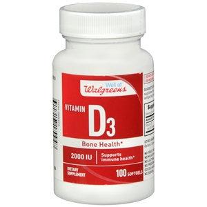 Walgreens Vitamin D3 Bone Health 2000 IU, Softgels
