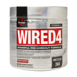 Image Sports - Wired4 Powerful Pre-Workout Formula Fruit Punch - 6.35 oz.