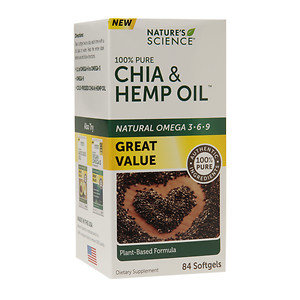 Nature's Science Chia & Hemp Oil, Softgels, 84 ea