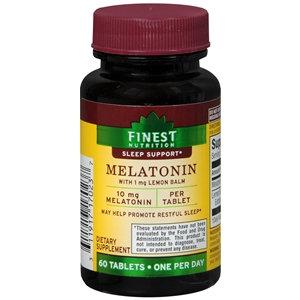 Finest Nutrition Melatonin 10mg, Tablets